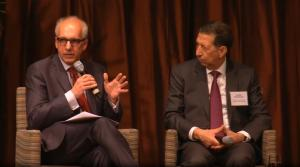 Panelists George Papagiannis and Mounir Bouchenaki