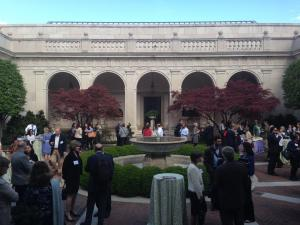 Reception in the Freer Gallery courtyard