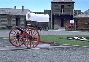 View of Fort Macleod, inside the fort walls