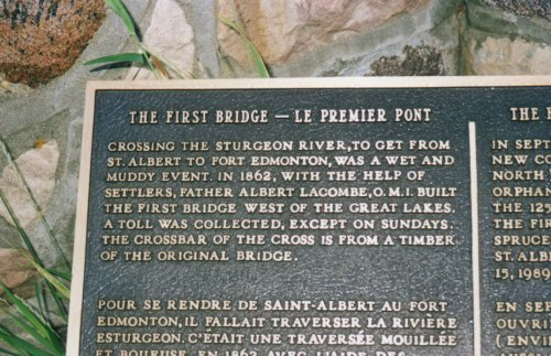 The First Bridge in Saint Albert