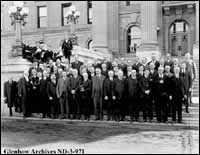 Fifth Legislature, 1921: exclusively white and male