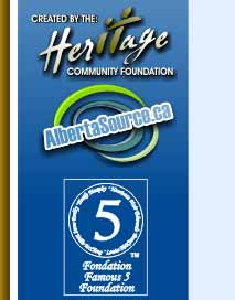 Heritage Community Foundation, Albertasource.ca and The Famous Five Foundation