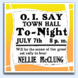 Advertisement for public speech by Nellie McClung in Fort Macleod. Image Courtesy of BC Archives - Call Number: E-06014