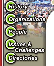 History, Organizations, People, Issues & Challenges and Directories