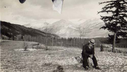 Ernest Forrend in mountains