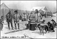 Group of Metis traders at Lac La Biche