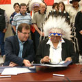 Siksika acreage discrepancy claims settlement agreement signing