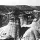 Hoodoos, Dinosaur Valley, Drumheller, Alberta.  Photo courtesy of Glenbow Archives.