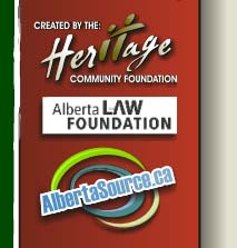 The Heritage Community Foundation, Alberta Law Foundation and Albertasource.ca