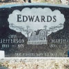 Final resting place of Jefferson and Martha Edwards