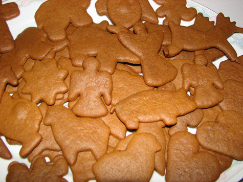Estonian gingerbread or 'piparkoogid', a traditional Estonian Christmas treat.