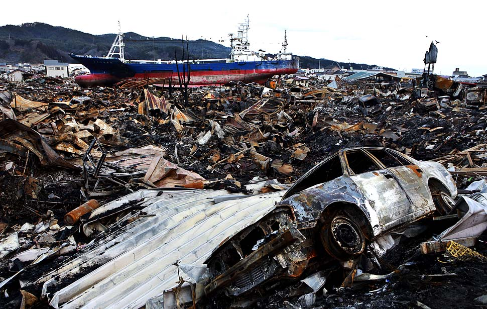 The city and its harbor were destroyed in the earthquake, tsunami and fire