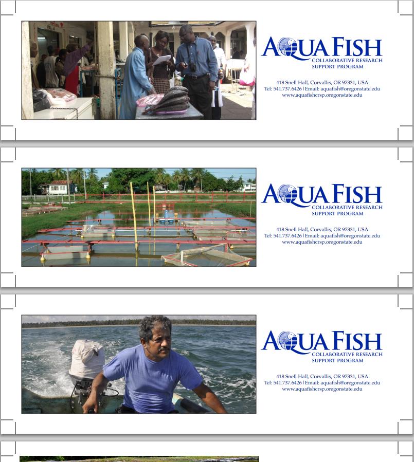 AquaFish CRSP Bookmarks