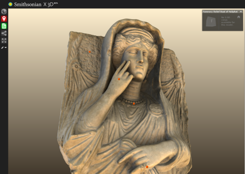 """freersackler: """" Zoom into our sculpture of Haliphat thanks to @smithsonian3d. The bust is on view in our Palmyra installation through December 14. """" Download and 3D print the @freersackler Haliphat. You can find the model here:..."""