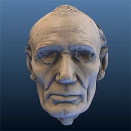 Image of Lincoln Life Mask (Volk) Laser Scan