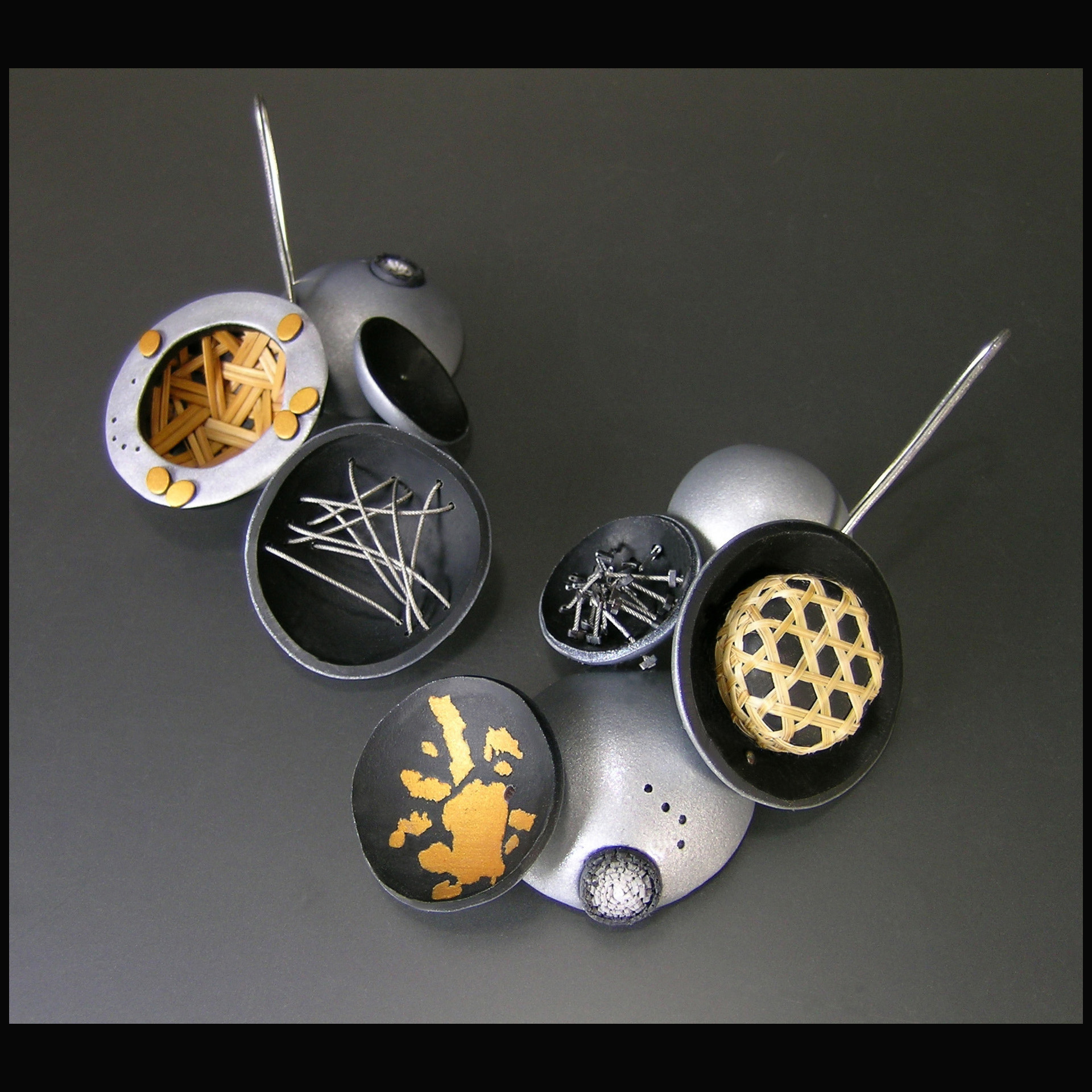 Polymer clay: hand-forming, layering, slicing/splitting, carving.