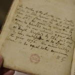 Manuscript note in Certian Discourses