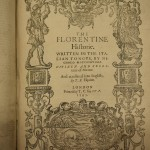The Florentine Historie, by Niccolò Machiavelli, 1595