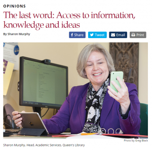 Last work: access to information, knowledge & ideas