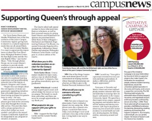 Supporting Queen's through appeal