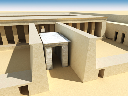 Rendering of Amenhotep I Calcite Chapel