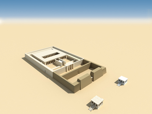 Rendering of Amenhotep I Limestone Chapel