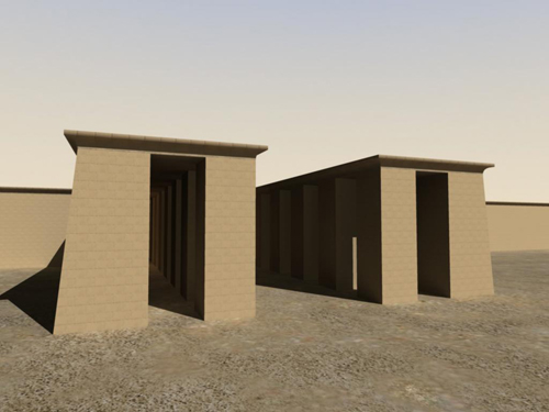 Rendering of Aten Temples