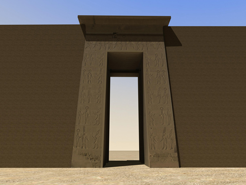 Rendering of Bab el Amara Gate