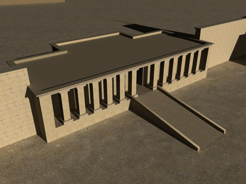 Rendering of Edifice of Amenhotep II