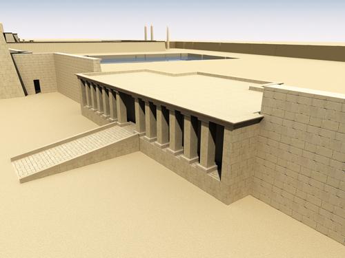 Rendering of Edifice of Amenhotep II