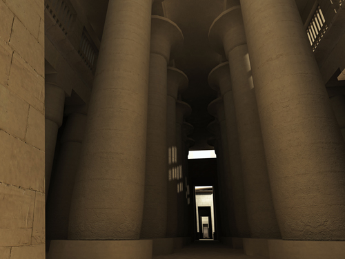Rendering of Hypostyle Hall