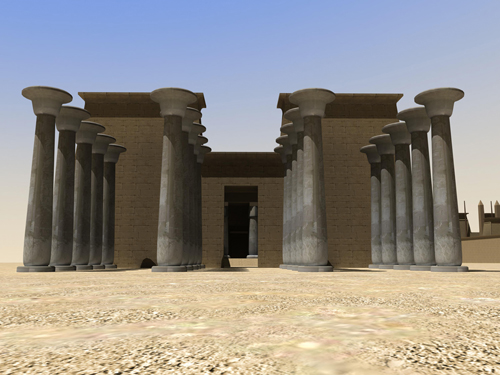 Rendering of Khonsu Temple