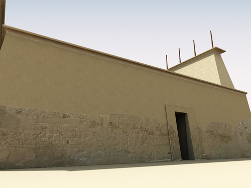 Rendering of North Exterior Wall