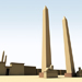 Image resource: Rendering of Obelisks at Eastern Gate, by UCLA