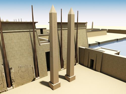 Rendering of Obelisks of Pylon VII