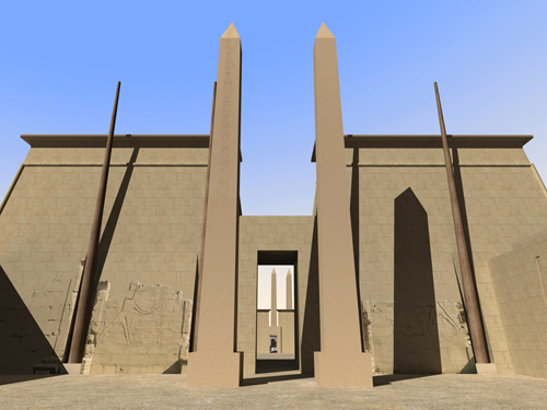 Rendering of Obelisks of Pylon VII