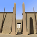 Image resource: Rendering of Obelisks of Pylon VII, by UCLA