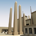 Image resource: Rendering of Obelisks of Festival Hall Center Pair, by UCLA