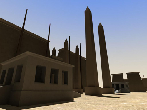 Rendering of Obelisks of Festival Hall West Pair