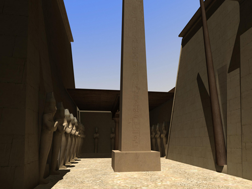Rendering of Obelisks of Wadjet Hall