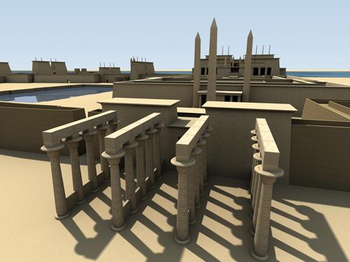 Rendering of Ramesses II Eastern Temple