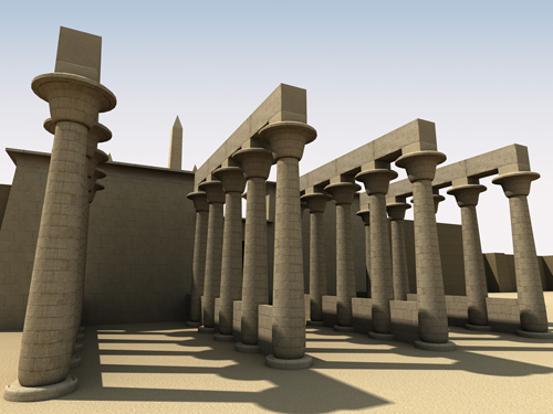 Rendering of Ramesses II Eastern Temple