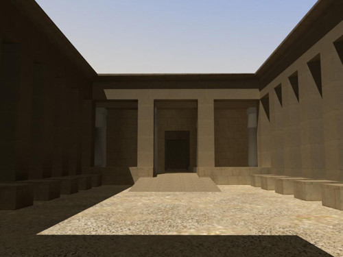 Rendering of Ramesses III Temple