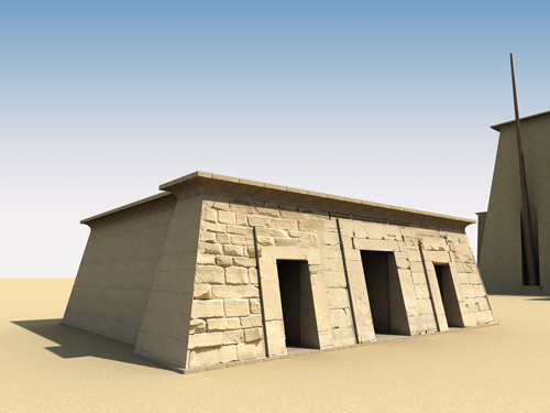 Rendering of Sety II Shrine