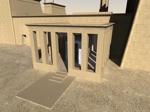 Rendering of Thutmose III Shrine