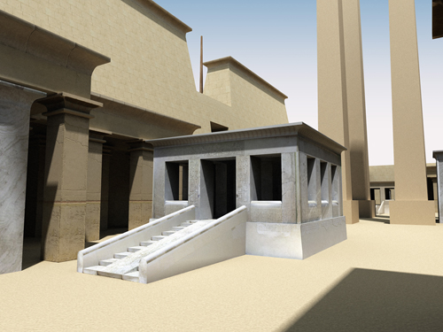 Rendering of Thutmose IV Peristyle Hall