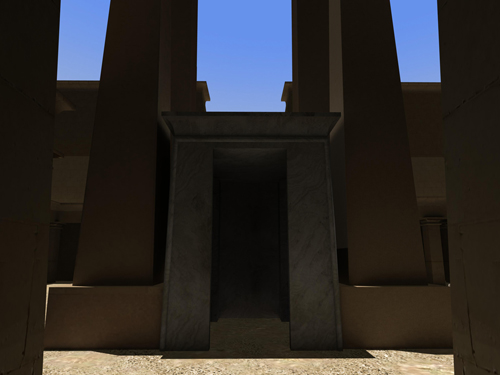 Rendering of Amenhotep II Shrine