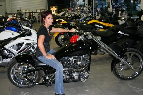 Black Yamaha Road Star Chopper