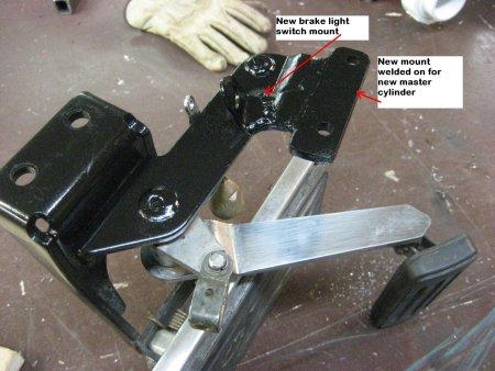 Yamaha Road Star Brake Assembly Modified for Harley Master Cylinder