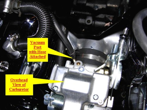 VOES vacuum port, Yamaha Road Star